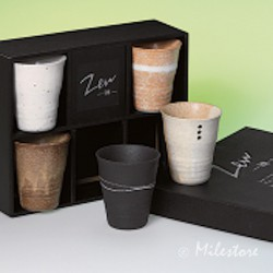 """Tee-Cup-Set """"Zen"""" aus Keramik"""